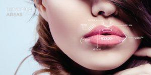 facial aesthetics treatment areas lips