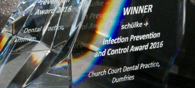Winner schulke Infection Prevention and Control Award 2016 Church Court Dental Practice, Dumfries (close up of crystal with refraction)